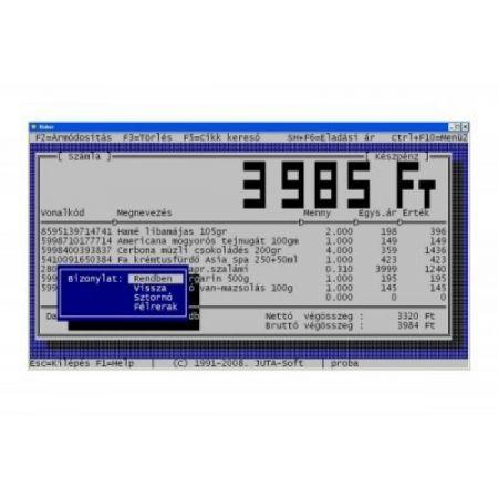 Készletkezelés számlázás pénztárgép kapcsolattal
